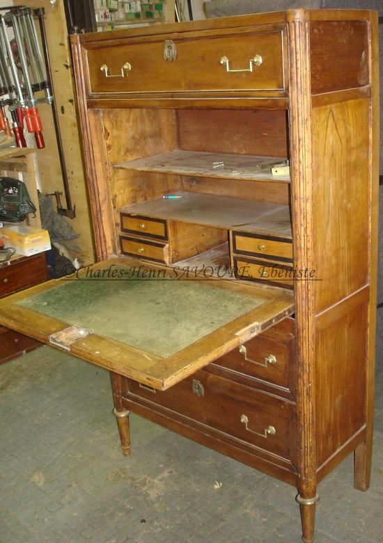 relooking d un secr taire louis xvi charles henri savour eb niste. Black Bedroom Furniture Sets. Home Design Ideas