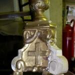 Candélabre sculpté