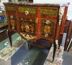 Commode transition en marqueterie